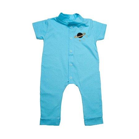 Macaquinho Bebê Com Aplique G Kids Azul