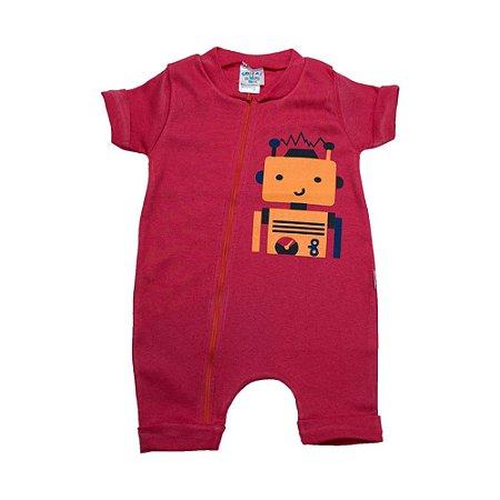 Macaquinho Bebê Robô G Kids Vermelho
