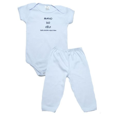 Conjunto Bebê Body Mano Do Céu Meu Bebê Branco