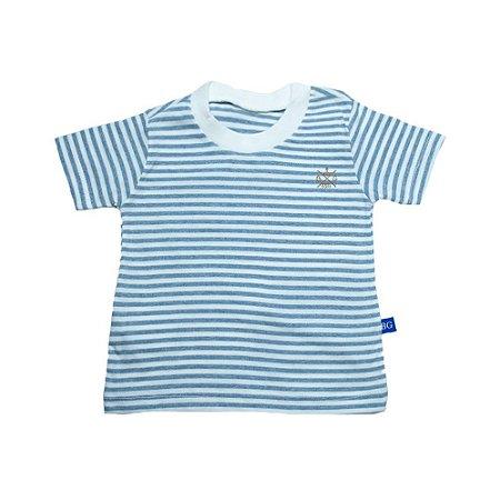 Camiseta Bebê Listras Baby Gut Pérola