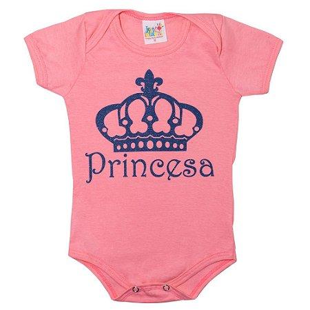 Body Bebê Princesa Jeito Infantil Rosa