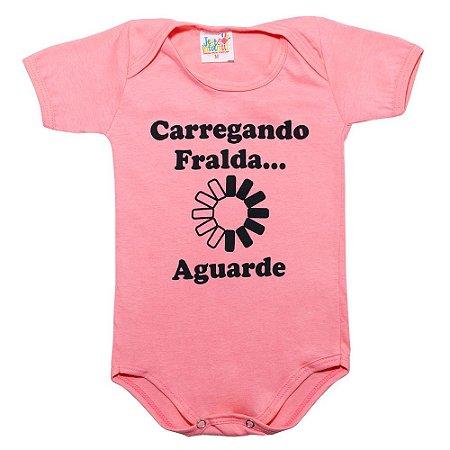 Body Bebê Carregando Fralda Jeito Infantil Rosa
