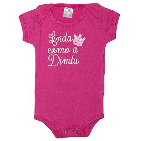 Body Bebê Linda Como A Dinda Meu Bebê Pink