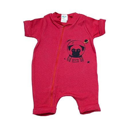 Macaquinho Bebê Dog Astronauta G Kids Vermelho