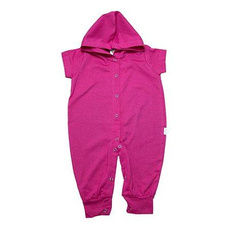 Macacão Bebê Com Capuz G Kids Pink