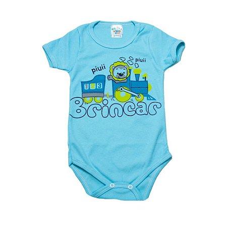 Body Infantil Leão G Kids Azul
