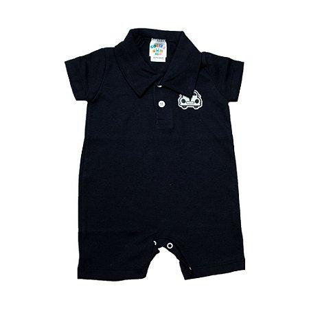 Macaquinho Bebê Com Aplique G Kids Preto