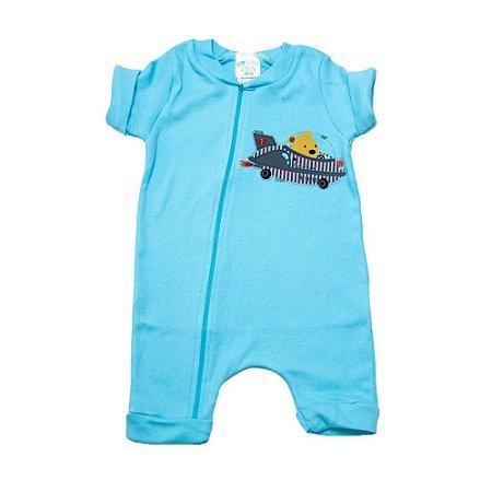 Macaquinho Bebê Urso Aviador G Kids Azul