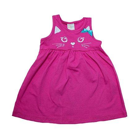 Vestido Infantil Gatinha Eleva Pink