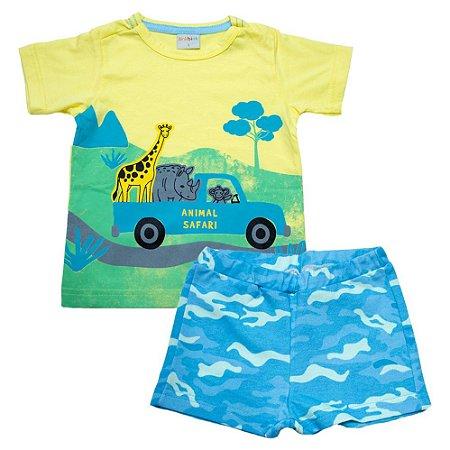 Conjunto Infantil Safari Eleva Amarelo