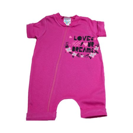 Macaquinho Bebê Loves G Kids Pink