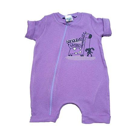 Macaquinho Bebê Girafa G Kids Lilás