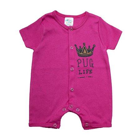 Macaquinho Bebê Coroa G Kids Pink
