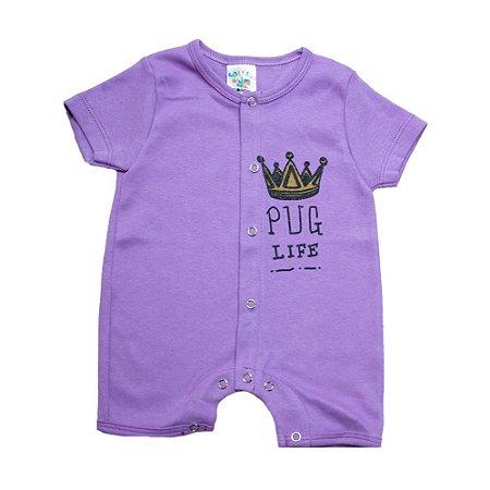 Macaquinho Bebê Coroa G Kids Lilás