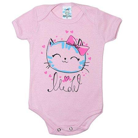 Body Bebê Gatinha Anjinho Meu Rosa