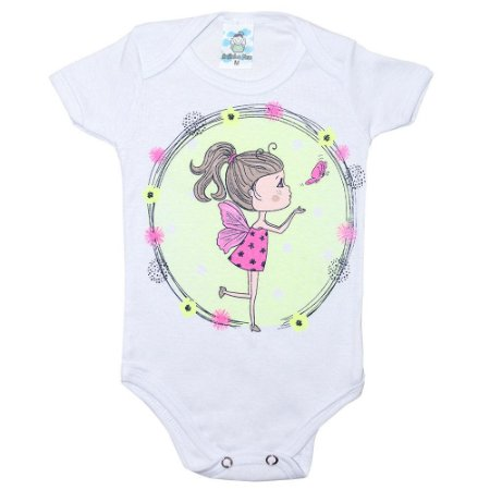 Body Bebê Fadinha Anjinho Meu Branco