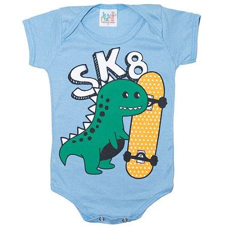 Body Bebê Dino Jeito Infantil Azul