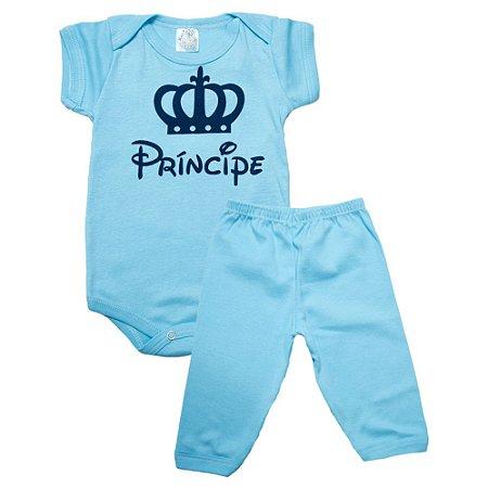 Conjunto Bebê Body Príncipe Meu Bebê Azul
