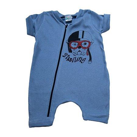 Macaquinho Bebê Dog G Kids Azul