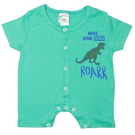 Macaquinho Bebê Dino Rex G Kids Verde