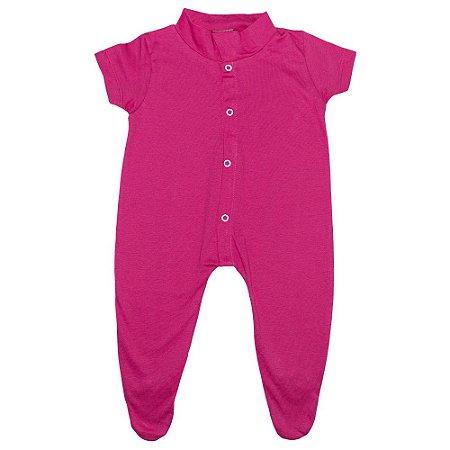 Macacão Bebê Com Pézinho G Kids Pink