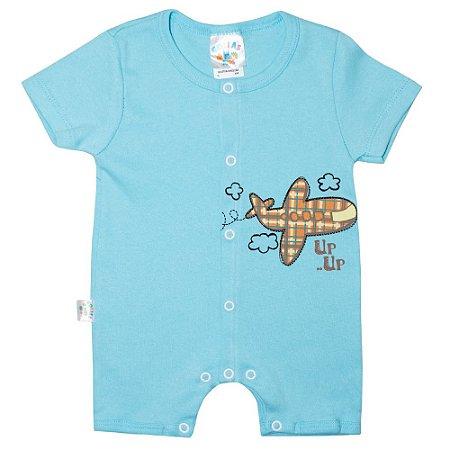 Macaquinho Bebê Avião G Kids Azul