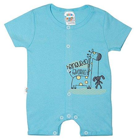 Macaquinho Bebê Girafa G Kids Azul