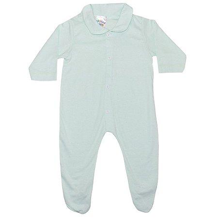 Macacão Bebê Com Pézinho G Kids Verde