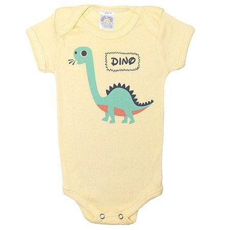 Body Bebê Dino Meu Bebê Amarelo