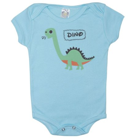 Body Bebê Dino Meu Bebê Azul