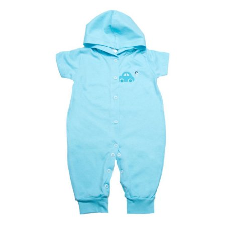 Macacão Bebê Com Capuz e Aplique G Kids Azul
