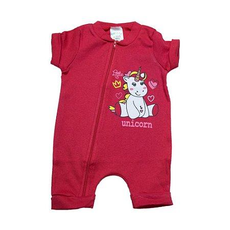 Macaquinho Bebê Unicórnio G Kids Vermelho