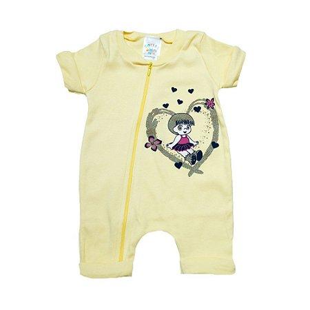 Macacão Bebê Menina G Kids Amarelo