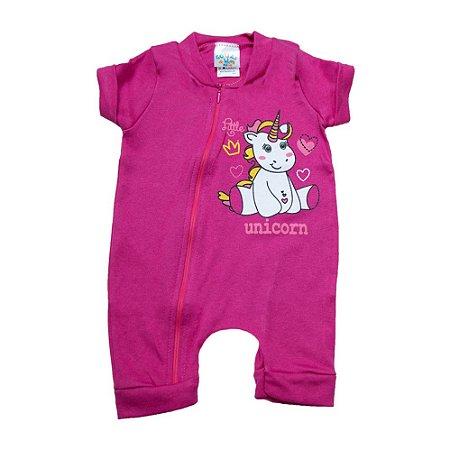 Macaquinho Bebê Unicórnio G Kids Pink