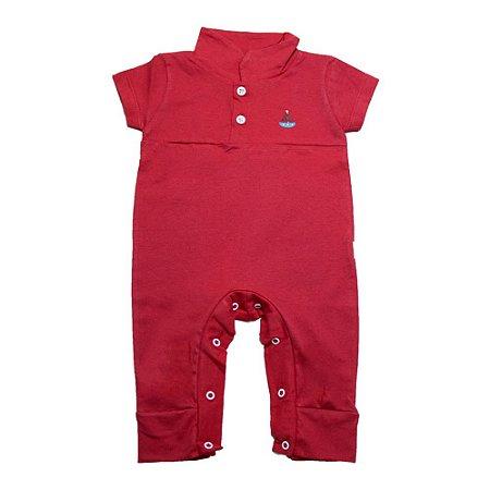 Macaquinho Bebê Com Aplique G Kids Vermelho