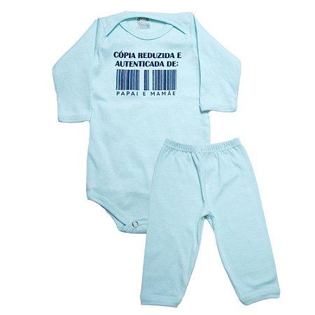 Conjunto Bebê Body e Calça Cópia Reduzida Meu Bebê Verde