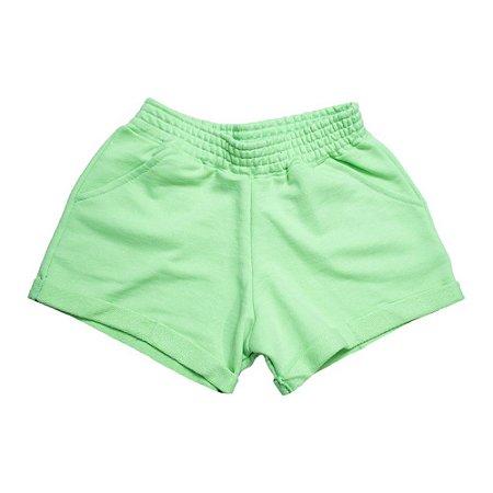 Shorts Infantil Neon Ninando Verde