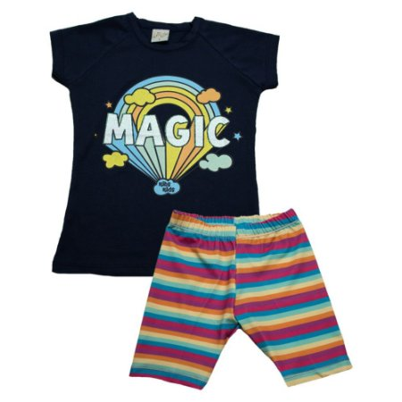 Conjunto Infantil Magic Kibs Kids Marinho