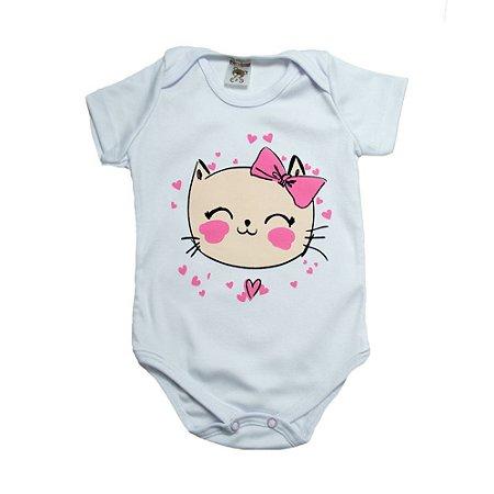 Body Bebê Gatinha Dlook Branco