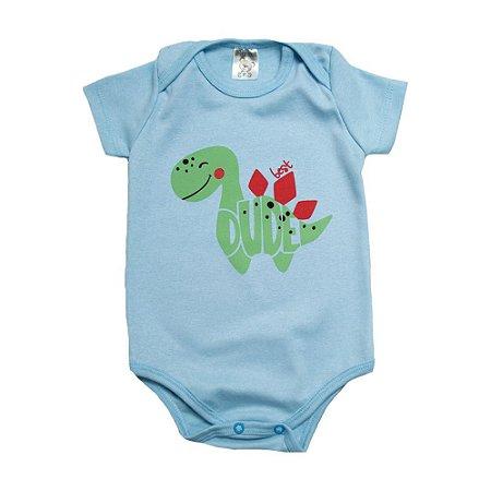 Body Bebê Dino Dlook Azul