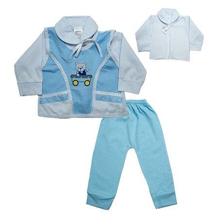 Conjunto Bebê Pagão Colete Radani Azul