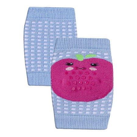 Joelheira Bebê Antiderrapante Frutinha Winston Azul