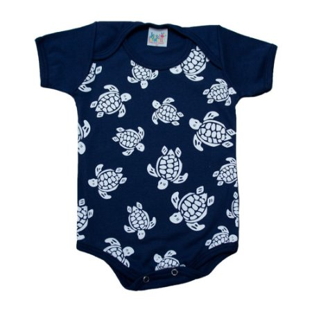 Body Bebê Tartaruga Jeito Infantil Marinho