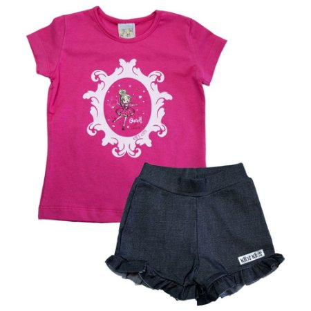 Conjunto Infantil Bailarina Kibs Kids Pink