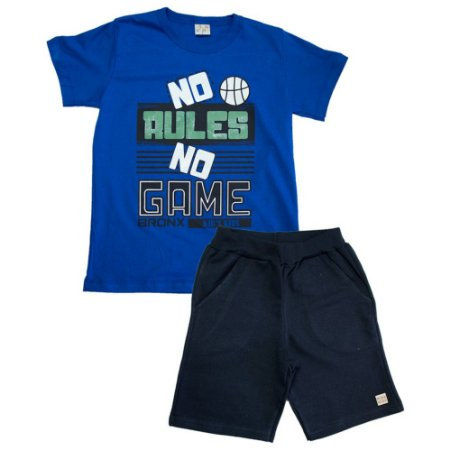 Conjunto Infantil No Rules Kibs Kids Royal