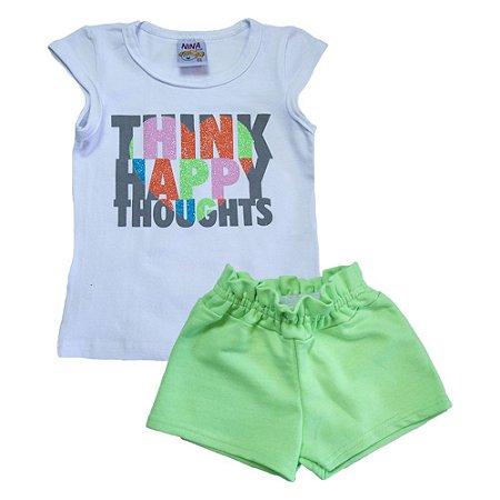Conjunto Infantil Think Happy Ninando Branco