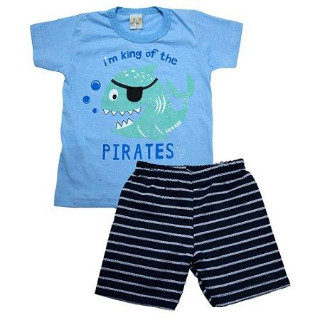 Conjunto Infantil Peixe Pirata Kibs Kids Azul