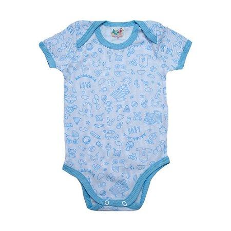 Body Bebê Mundo Baby Jeito Infantil Branco