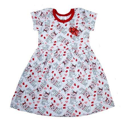Vestido Bebê/Infantil Dog Veste Kids Branco