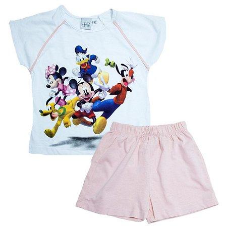 Pijama Infantil/Juvenil Disney Jeito Infantil Branco